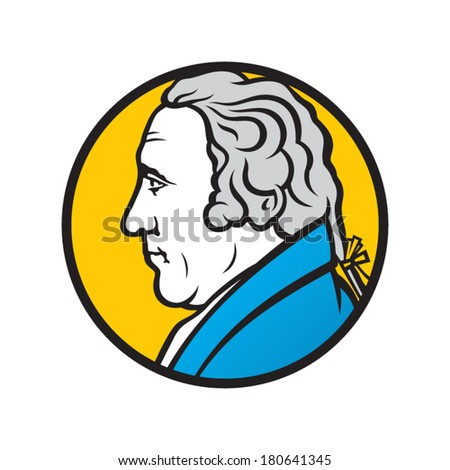 Engineer and inventor James Watt Branding Identity Corporate vector logo design template Isolated on a white background - stock vector