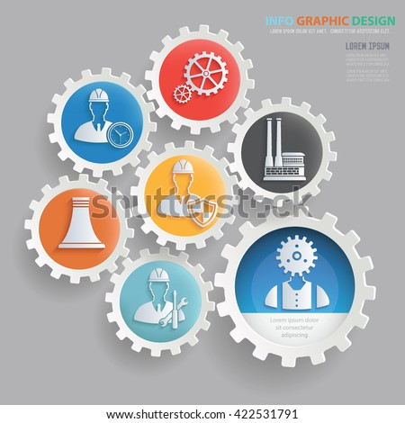 Engineer,construction concept design on clean background,vector - stock vector