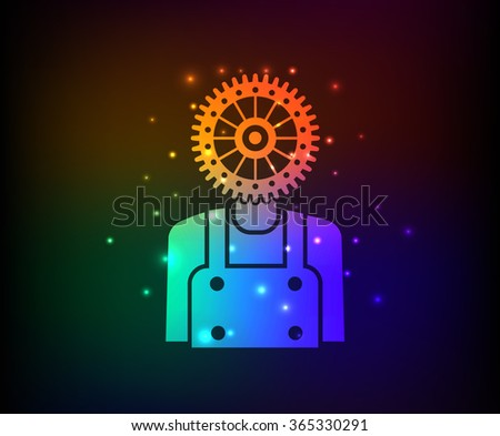 Engineer design,rainbow concept,clean vector - stock vector