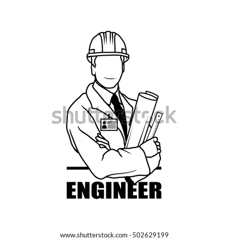 sketch engineer stock images  royalty