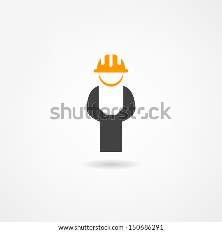 engineer icon - stock vector