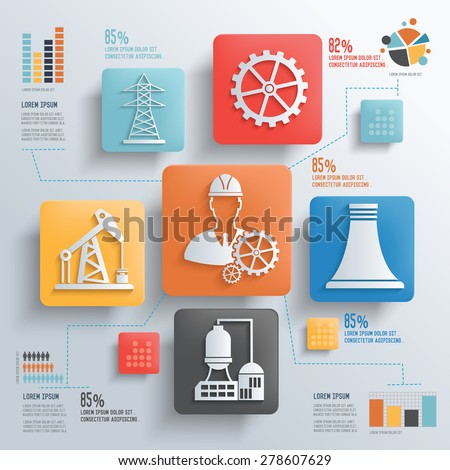 Engineering and construction info graphic design for your text,clean vector - stock vector