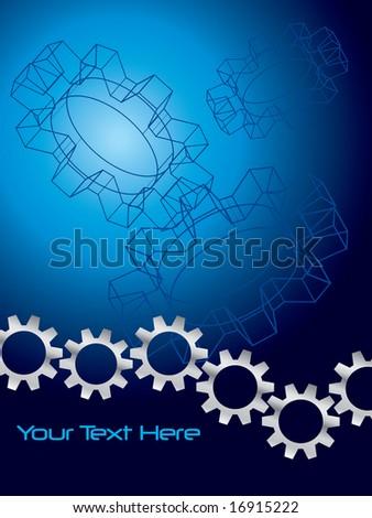 Engineering background - stock vector
