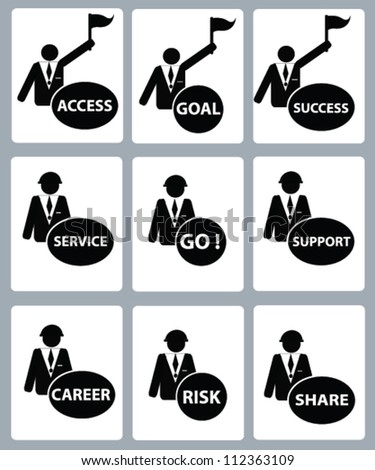Engineering concept ,Business icon,icon set,Vector - stock vector