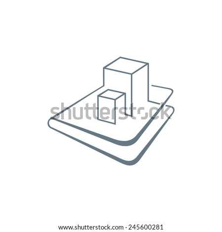 Engineering documentation for construction abstract vector sign Branding Identity Corporate logo design template Isolated on a white background - stock vector