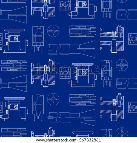 Engineering drawing modern mechanics blueprints pattern stock vector modern mechanics blueprints pattern vector technology background blue wallpapers technical malvernweather Gallery
