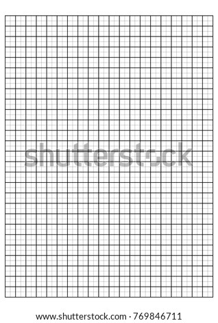 Engineering Graph Paper Printable Graph Paper Stock Vector