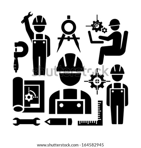 Engineering icons - stock vector