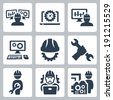 Engineering vector icons set - stock
