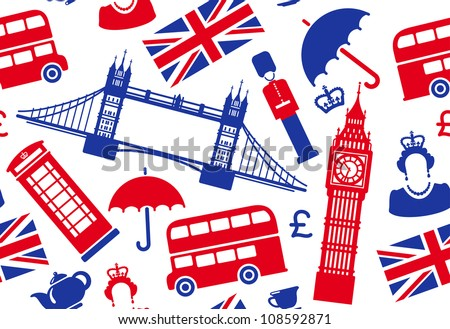 England background - stock vector