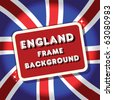 England British flag background frame.tamaravector collection - stock vector