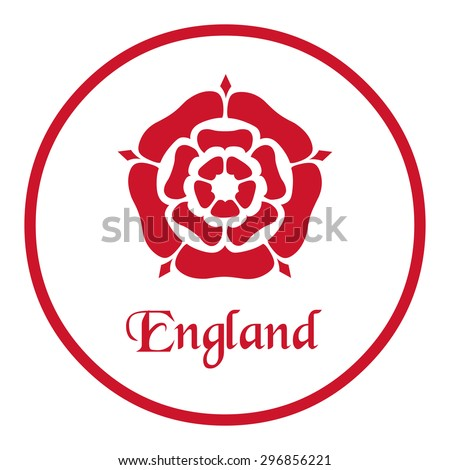 England emblem with the Tudor Rose - stock vector