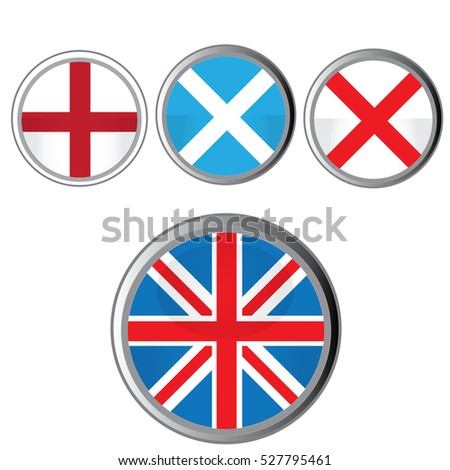 England flags icons - vector illustrator