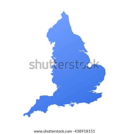 England map with gradient - stock vector