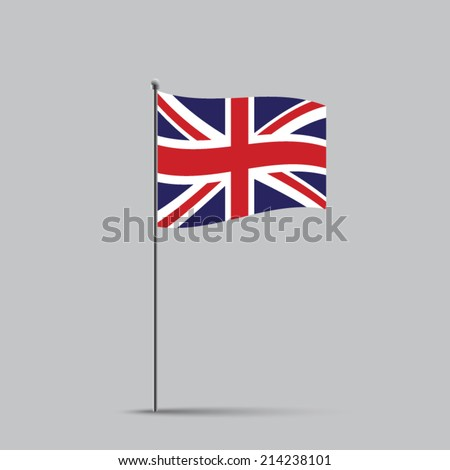 English flag on a flagstaff