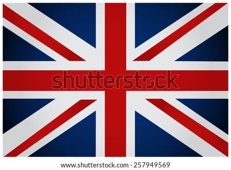 English flag. Vector illustration. - stock vector