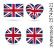 English flags vector collection - stock vector