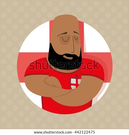 English football player  - stock vector