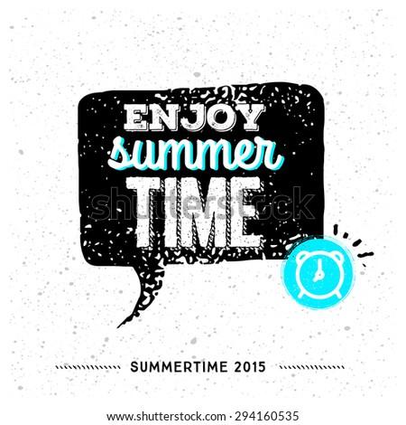 Enjoy Summer Time! Awesome vintage illustration - stock vector