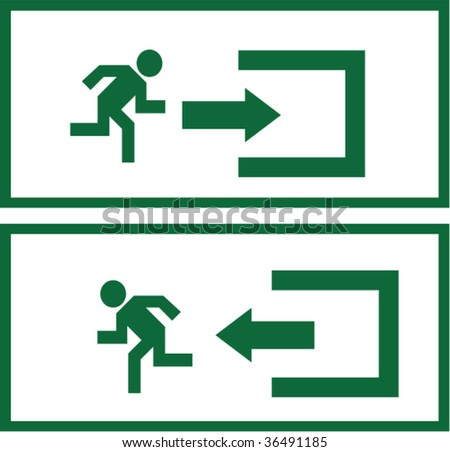 Enter and exit signs - stock vector