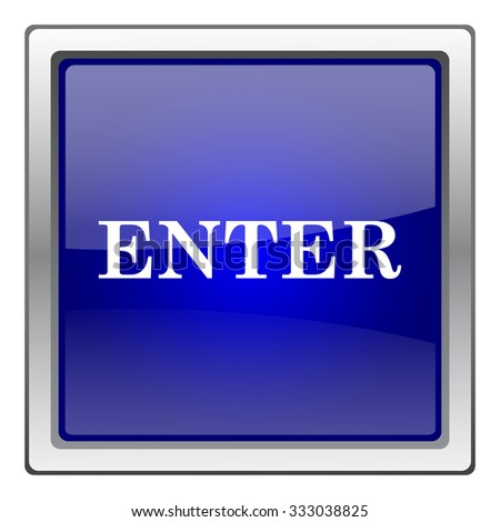 Enter icon. Internet button on white background. EPS10 vector.