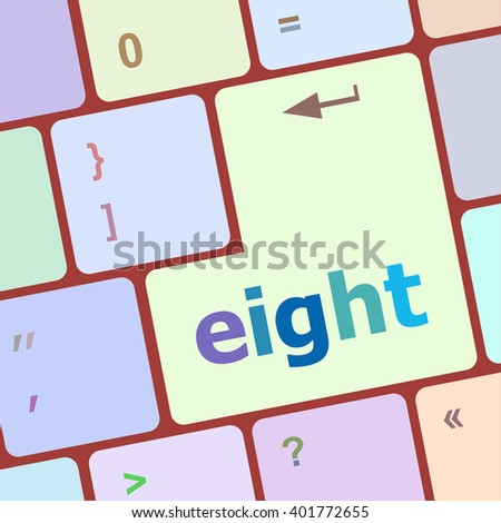 enter keyboard key with eight button vector illustration - stock vector