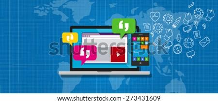 enterprise messaging system ems - stock vector