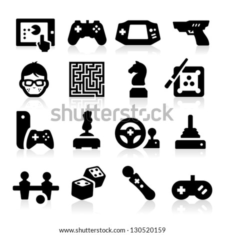 Entertaining Icons - stock vector