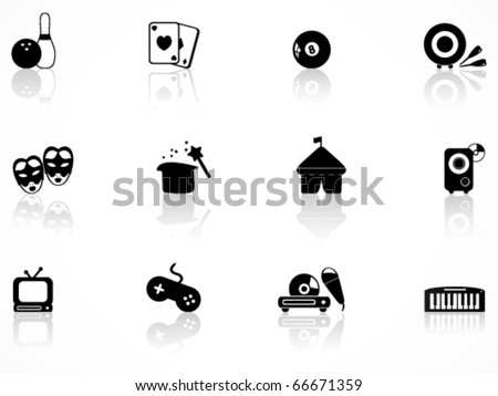 Entertainment icons set - stock vector