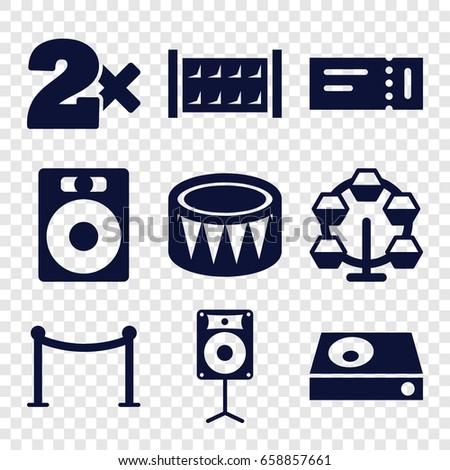 Entertainment Icons Set Set 9 Entertainment Stock Vector 658857661