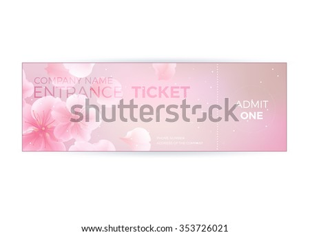 Vector gift voucher template lotus lily stock vector 353725991 entrance ticket luxury vector design template in soft blur vintage style yadclub Image collections