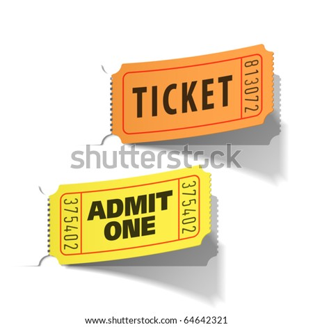 Entrance tickets. Vector.