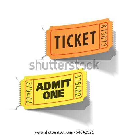 Entrance tickets. Vector. - stock vector