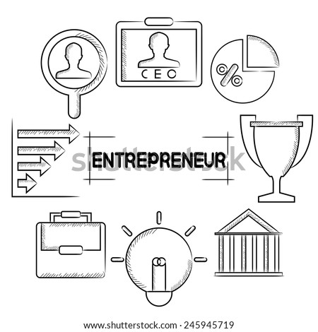 entrepreneurship - stock vector