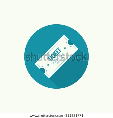 Entry ticket. Admit one theater, cinema, zoo, swimming pool, fair, rides, swing, amusement park, carousel. icon for online booking of tickets. Web and mobile app icon, button - stock vector