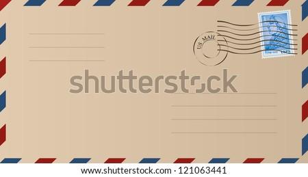 envelope - stock vector