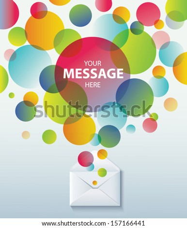 Envelope and bubble speech. Concept background.