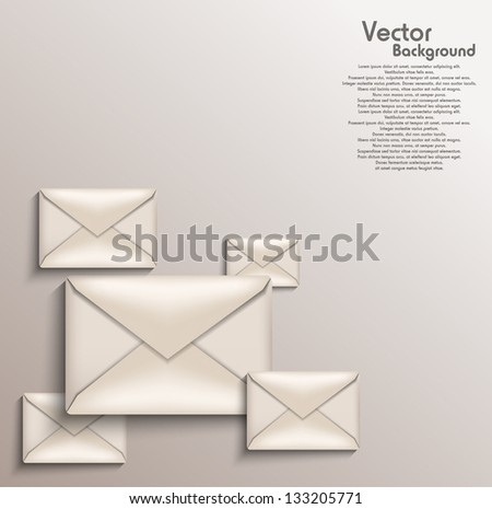 Envelope background - stock vector