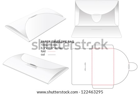 envelope bag - stock vector