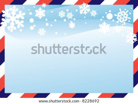 Envelope boder style christmas background