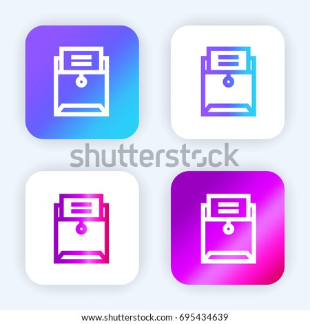 Vector Illustration Opened Card Catalog File Stock Vector