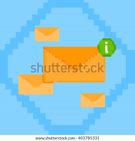 Envelope Digital Marketing Email Inbox Message Send Business Mail Vector Illustration - stock vector