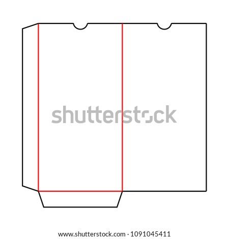 Envelope DL Pocket Size Die Cut Stock Vector 1091045411 Shutterstock