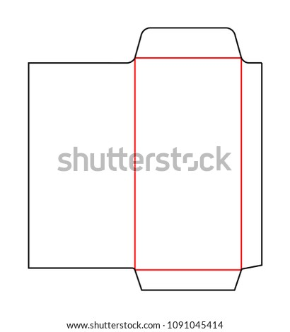 Envelope Dl Pocket Size Die Cut Stock Vector 1091045414 Shutterstock