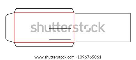 envelope dl pocket size horizontal die stock vector 1096765061