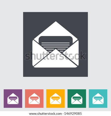 Envelope flat icon. Vector illustration EPS. - stock vector