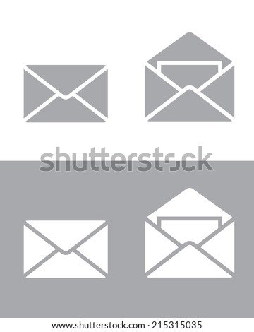 Envelope Icon Set - Vector