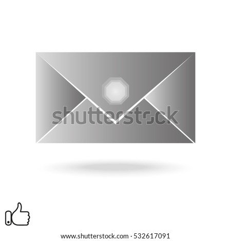 envelope, icon, vector illustration EPS 10