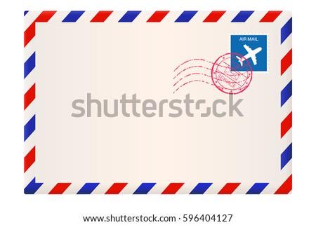 Red White And Blue Envelopes. Envelope International Air Mail ...