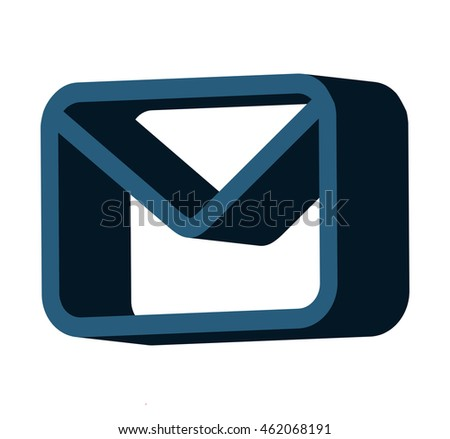envelope isolated icon design, vector illustration graphic